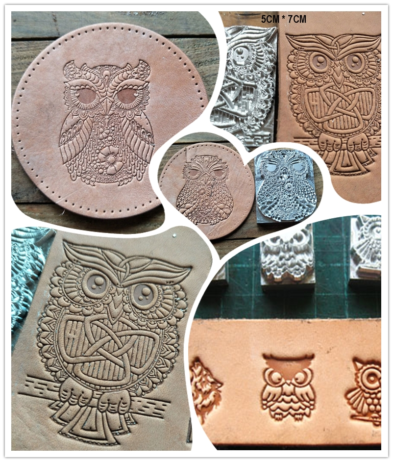Owl Pattern Hand-work Unique Design Leather Working Tools Carving Punches Stamp Craft Leather With Leather Carving Tools