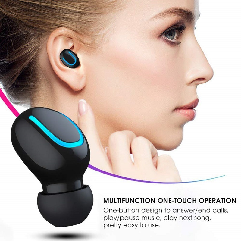 Bluetooth 5 0 Headset TWS Wireless Earphones Mini Earbuds Stereo Headphones With Charging Case in Bluetooth Earphones Headphones from Consumer Electronics