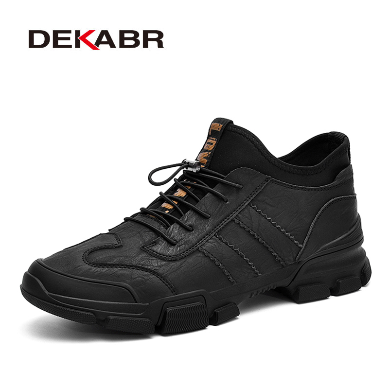 DEKABR Warm Men Sneakers Fashion Slip-On High-Top Casual Shoes Split Leather Shoes Brand Handmade Luxury Male Footwear Men Shoes blaibilton brand winter warm velvet high top men casual shoes luxury genuine leather male footwear fashion designer mens sd3599