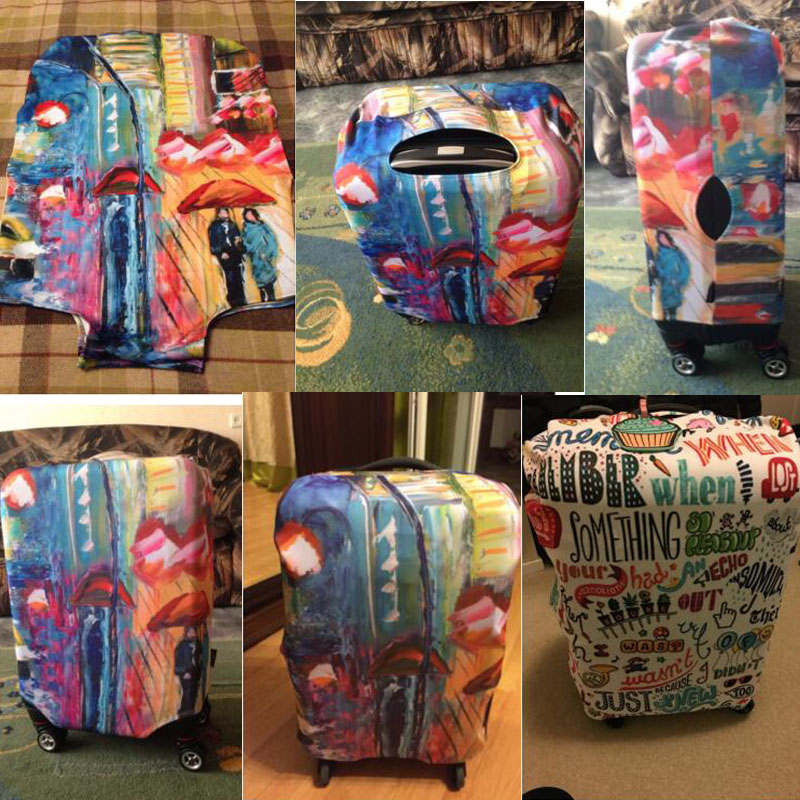 FORUDESIGNS-USA-UK-Flag-Print-Covers-For-Trolley-Suitcase-Elastic-Luggage-Protective-Cover-For-18-28