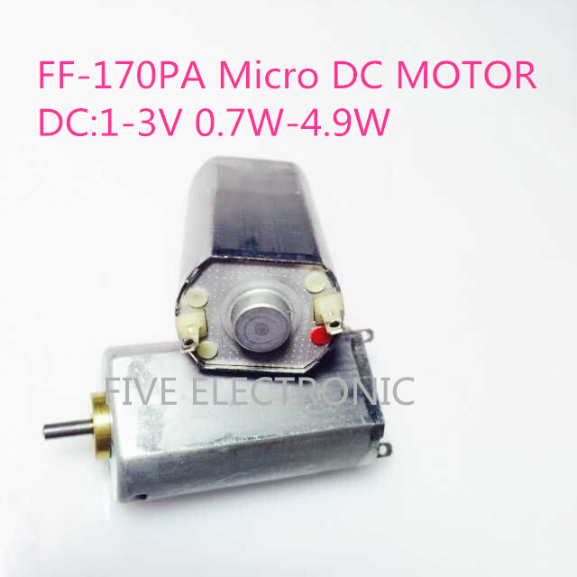 FF-170PA Micro DC Motor, 1-3V,+/-7800-9900RPM, use for electric shaver model airplane DIY electric toys image