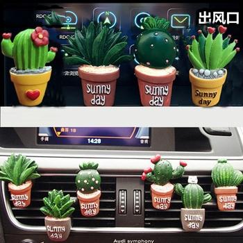 Kreatywny 3D sztuczna roślina klimatyzator samochodowy dekoracja do wylotu perfum odświeżacz powietrza na klipie samochód Tuyere perfum ozdoba samochodu tanie i dobre opinie Stałe Z tworzywa sztucznego Air Freshener Air purification 0 1kg RUNDONG AUTO ACCESSORIES resin