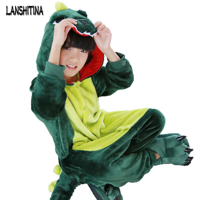 nuevos disfraces de halloween cosplay traje de dinosaurio nios dinosaurio verde onesie pijamas para nios tamao