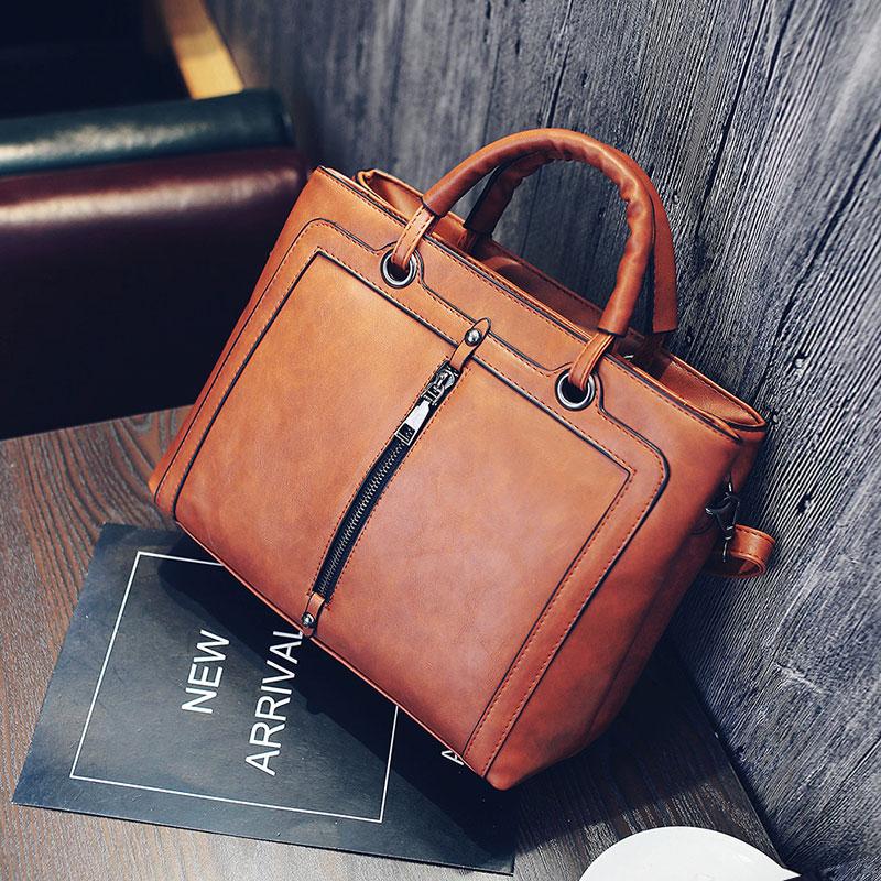 Women's bags 2017 vintage lady handbags brief all-match fashion roma handbag nubuck leather shoulder bags messenger purse
