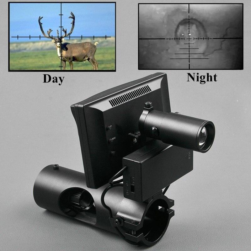 Visione Notturna Riflescope di Caccia di Giorno e di Notte Riflescope di Caccia Smontaggio Rapido Digital Night Vision Scope Outdoor Ottica