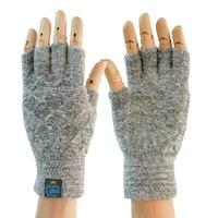 メンズ手袋指なしウールニット暖かい手袋luvasデinverno男