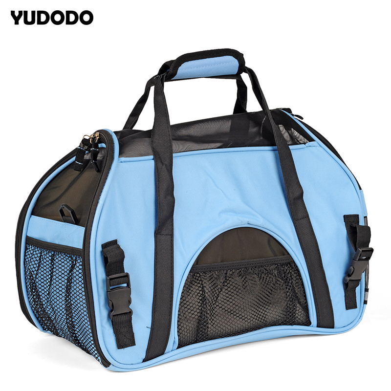 3 Colors Mesh Breathable Puppy Dog Outdoor Carriers Portable Folding Small Pet Single Shoulder Travel Carrying Hand Bags