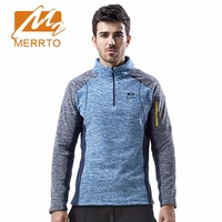2017 Merrto Mens Fleece Hiking Jackets Thermal Sports Clothing Color Blue Yellow For Men Free Shipping