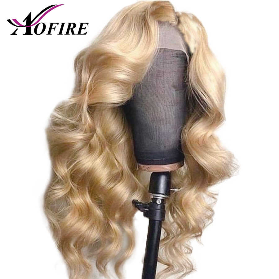 613 Blonde Body Wave Brazilian Remy Transparent 13x4 Lace Front Human Hair Wigs For Women Pre Plucked With Baby Hair Aofire