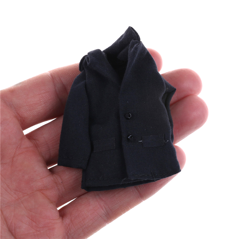 New 1pcs Kawaii 1/12 Scale Jacket Doll Accessory Dollhouse Miniature Dark Blue Clothes
