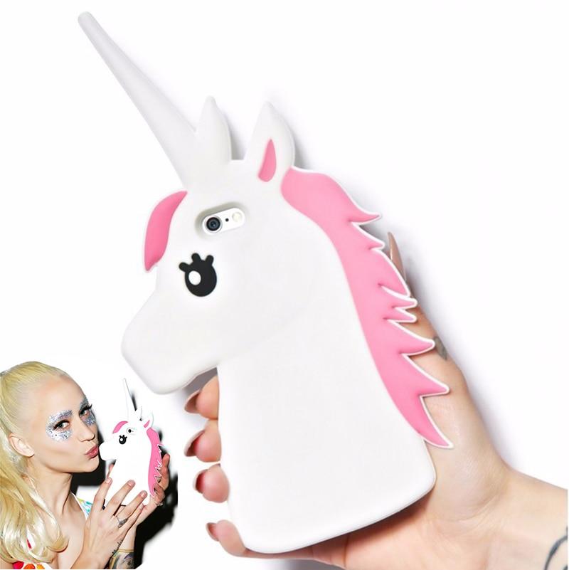 3D Cute Cartoon Unicorn Soft Silicone Case Cover For ...