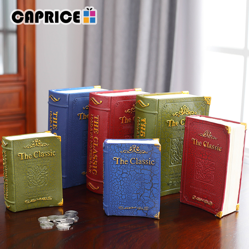 Resin Book Piggy Bank Coin Safe Bank Saving Money Box