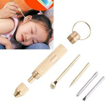 Brand Gold 4 in1 Multi Tool Set Cross Screwdriver Toothpick Ear Pick Pin Key Chain Promotions Hot Selling(China)