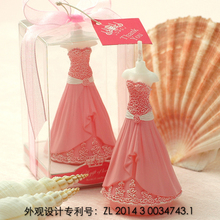 Smokeless scented creative Rose Dress cake decorated Candles for wedding party gifts and Children baby Birthday Party candle