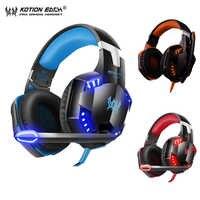 KOTION JEDER G2000 Gaming Headset Stereo Kopfhörer Verdrahtete Kopfhörer mit Mic LED licht Kopfhörer für PC Gamer Xbox PS4