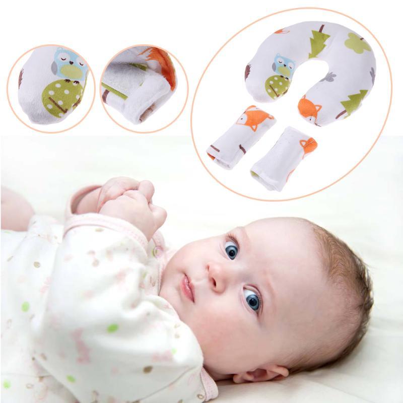 Baby Nursing Pillows Soft Infant Baby Safe U-Shaped Pillow Head Neck Support Protection Newbron Cotton Cushion 3Pcs/Set