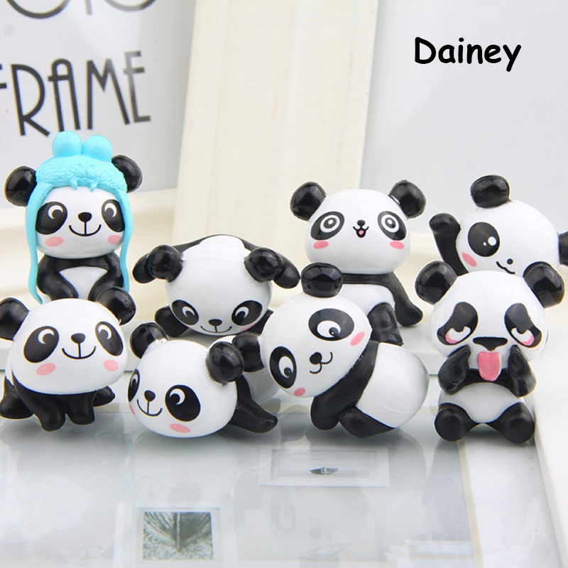 8PCs New Cute 5cm Panda Vinyl Toy Doll Game Figure Statue Baby Toy For Children Kids Gifts Action & Toys Figures ATF12 image