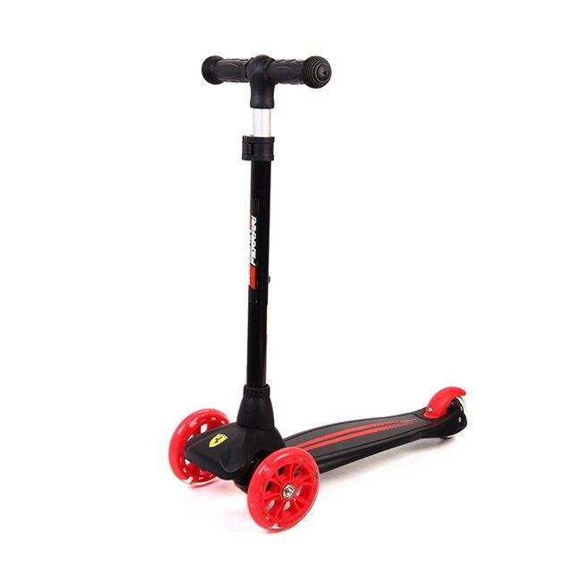 3 koła skutery dla dzieci składane zabawki do ćwiczeń Kickboard migające koła bezpieczeństwo skutery do stóp deskorolka na 3-10 lat
