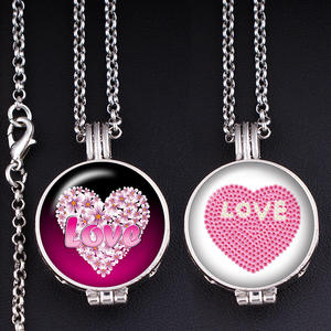 Glass Necklace Fragrance Locket Love XS666 Aromatherapy-Diffuser Essential-Oil Heart-Perfume-Aroma