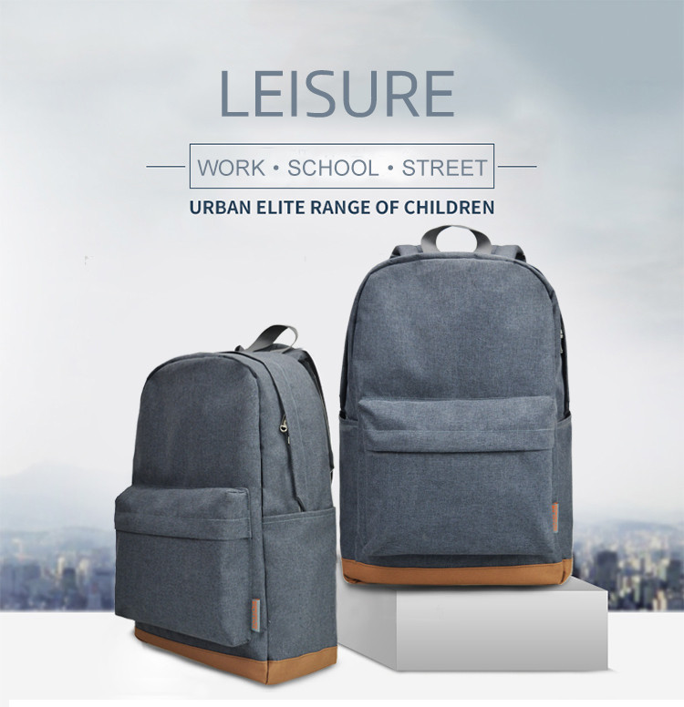 casual backpack made with canvas in grey