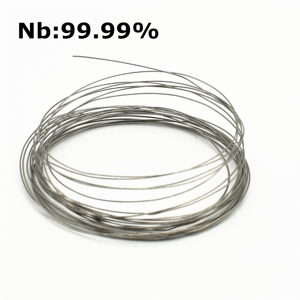 Niobium Wire Nb 4N High Purity 99.99% for Research and Development Element Metal Diameter 0.5 0.8 1.0 1.5mm Length 1MeterNiobium Wire Nb 4N High Purity 99.99% for Research and Development Element Metal Diameter 0.5 0.8 1.0 1.5mm Length 1Meter