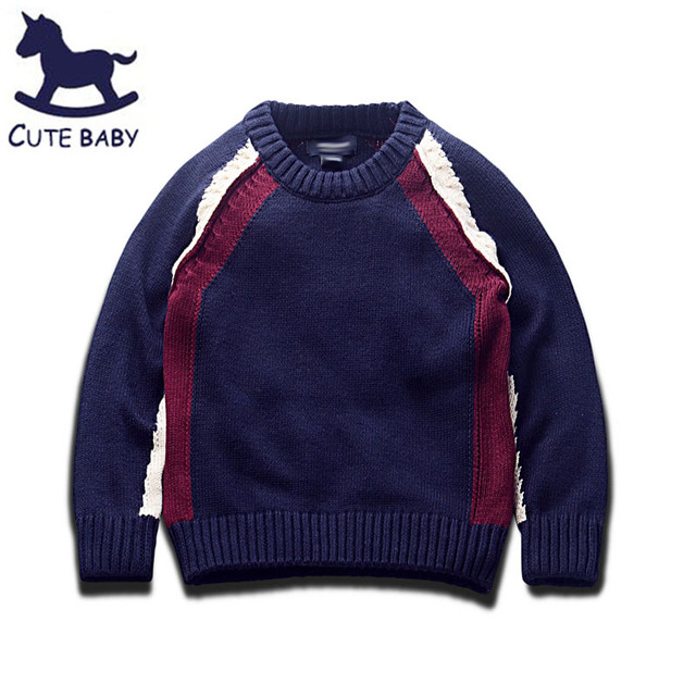 All children's clothes and accessories baby boy clothes sweaters for boys 2-3-4A kids clothes Pullover for Boys 6-7-8-9year