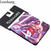 New Assassin's Creed Animation Wallet Men Leather Short Purse World of Warcraft Small Wallet Women's Marvel Card Holder Purse
