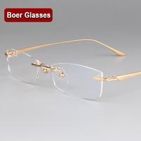 New Fashion Pure Titanium Male Eyeglasses men Frames Rimless Eye Glasses Myopia Spectacle Optical Prescription Eyewear 3527