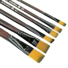 6pcs Artist Paint Brush Set Watercolor Acrylic Oil Painting Supplies