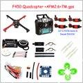 F450 Quadcopter Комплект Стойки Рамка APM2.6 и 7 М GPS 2212 920KV simonk 30A 9443 реквизит