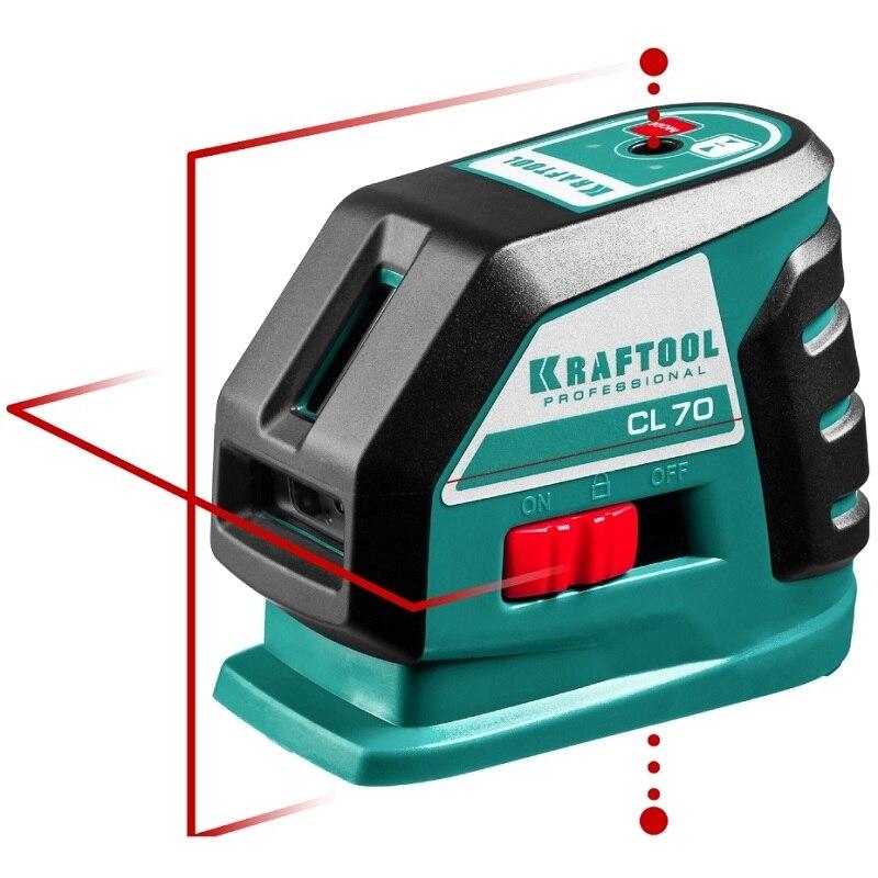 Level laser automatic KRAFTOOL CL-70-3 (constructing vertical, горизонталь, cross, accuracy 0,2mm-m) катушка индуктивности jantzen cross coil 16 awg 1 3 mm 0 23 mh 0 15 ohm
