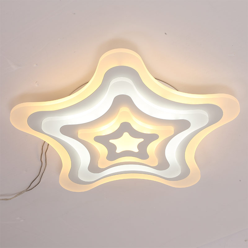 Dimmable Star Acrylic Lamp Fixtures Modern Led Ceiling Light With Remote Control Living Room Bedroom Decor Home Lighting 220V black and white round lamp modern led light remote control dimmer ceiling lighting home fixtures