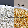 Gold and Silver Color 2mm 1500pcs Crystal Glass Spacer beads, Czech Seed Beads For Jewelry Handmade DIY BLUV02X