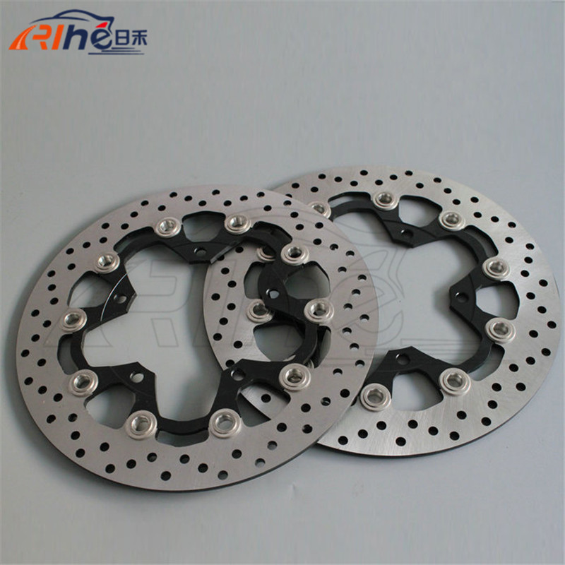 Aluminum alloy inner ring & Stainless steel outer ring motorbike front brake disc rotos For SUZUKI DL650 ABS/NON 2007 2008 2009