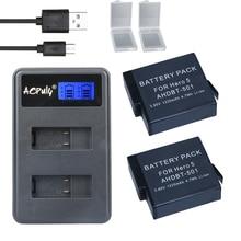 Baterias plus LCD USB para Acessórios 1.55 Versão 2X Bateria Gopro Hero 5 Gopro5 Carregador Dual DA Câmera Ahdbt-501 Hero5