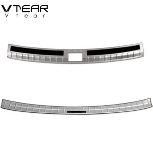 Image 4 - Vtear For Skoda Kodiaq body Accessories cover rear bumper protection car Exterior Chromium Styling interior car styling 2019