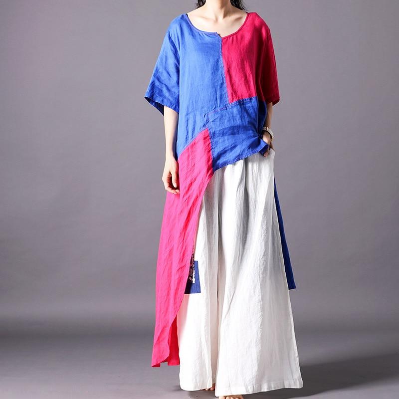 Harajuku t shirt femmes personnalité irrégulière t-shirt streetwear surdimensionné patchwork chemise vintage élégant décontracté femmes vêtements