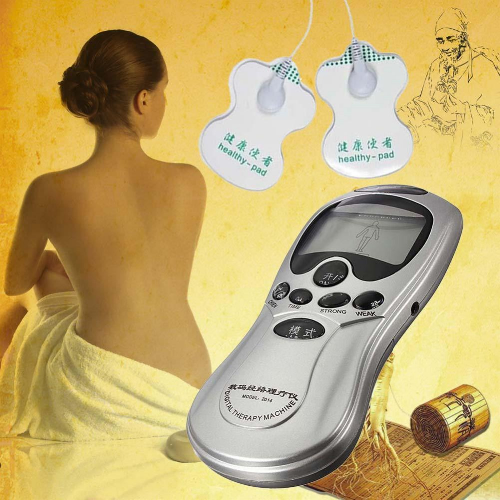 Health Care Full Body Massager Digital Therapy Machine Pulse Slimming Muscle Relax Massage Electric Pain Relief Acupuncture Slim quality guaranteed new silver color large lcd screen mini electric massager digital pulse therapy muscle full body massager