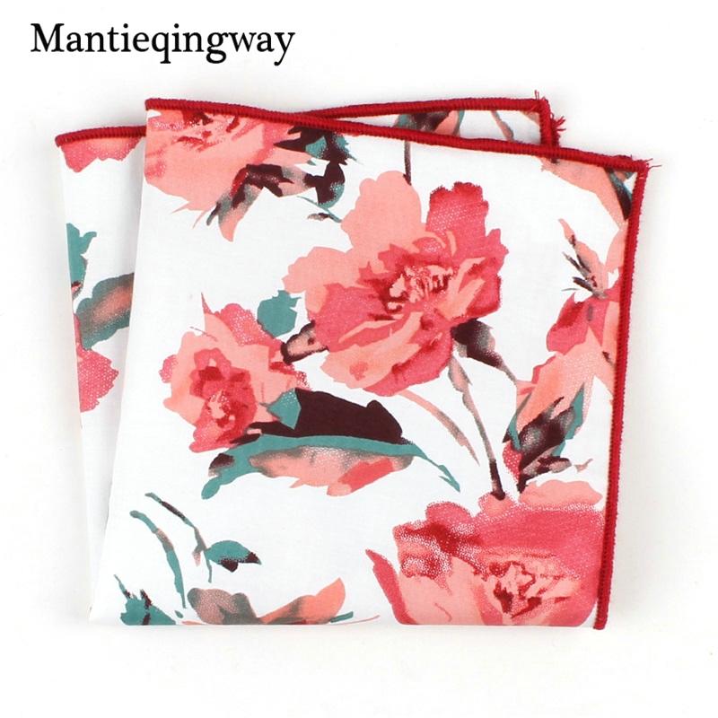 Vintage Floral Printed Handkerchiefs Pocket Towel For Mens Pocket Square Small Chest Towel Hanky For Women Hankies