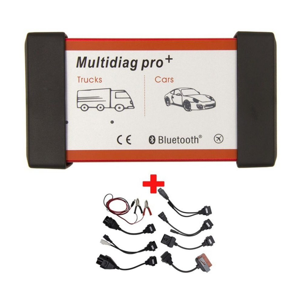 Multidiag Pro+ Scanner Without Bluetooth Function Keygen Diagnostic Tool with 8pcs Extension Cables for Cars Trucks подгузники merries m 6 11 кг 64 шт