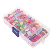 500pcs Round Resin Buttons 2 Holes 2 Holes Mini Sewing Tools Scrapbooking Decorative Clothing Apparel DIY Mixed Sizes