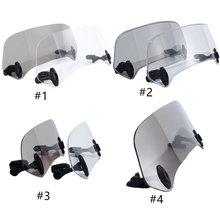 Universal Adjustable Windshields Extension Windscreen Spoiler Wind Deflector Protection For Suzuki harley