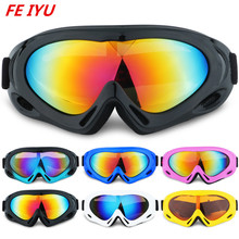 цена на Men Ms Skiing Glasses Ski Goggles Cycling Climbing Anti-fog Glasses Cycling Snow Snowboard Mask Eyewear UV400 Ski Sunglasses