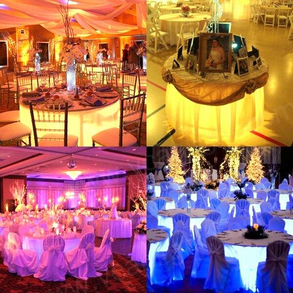 50 PCS/lot ed vase étanche lumière mini lumière LED LED à piles lumière de fête pour la décoration de fête de mariage