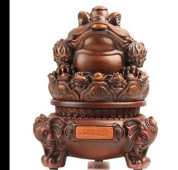 The three golden toad that makes money Large golden cicada toad Home furnishings store home sculpture decoration statues Home