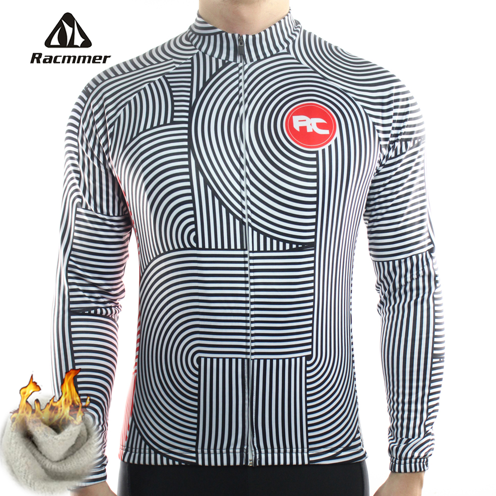 Racmmer Winter 2017 Long Pro Thermal Fleece Cycling Jersey Men Clothing Bicycle Maillot Equipacion Ciclismo Bike Clothes #ZR-07 black thermal fleece cycling clothing winter fleece long adequate quality cycling jersey bicycle clothing cc5081