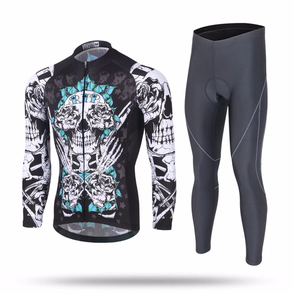 Men Cycling Jersey Sets Spring&Autumn Riding Suit Keep Warm Windproof Coat Sports Pants Cycling Sets Clothing arsuxeo breathable sports cycling riding shorts riding pants underwear shorts