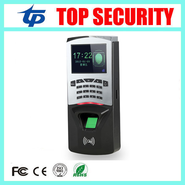 2.8inch color screen biometric TCP/IP fingerprint access control reader standalone single door fingerprint access controler f807 biometric fingerprint access control fingerprint reader password tcp ip software door access control terminal with 12 month