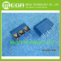 100 pcs, Azul azul passo 5.08 MM conector KF-301-3P 5.08 - 301 - 3 P frete grátis