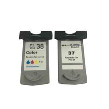 PG-37 CL-38 Ink Cartridge For Canon PG37 PG 37 CL-38 For Canon Pixma MP140 MP190 MP210 MP220 MP470 iP1800 iP1900 iP2500 iP2600
